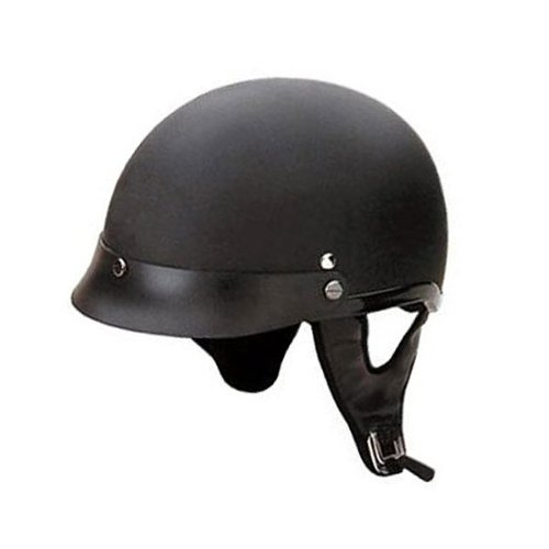 HCI-100 Matt Black Motorcycle / Scooter Half Helmet (XX-Large)