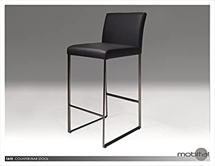 Awe Inspiring Amazon Com Mobital Tate Faux Leather 29 Bar Stool In Gray Cjindustries Chair Design For Home Cjindustriesco