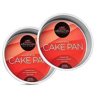 """Last Confection 2-Piece Round Cake Pan Set - 8"""" x 2"""" Deep Aluminum Pans"""