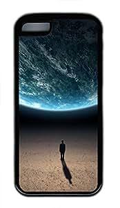 iPhone 5c case, Cute Alone In The Universe iPhone 5c Cover, iPhone 5c Cases, Soft Black iPhone 5c Covers