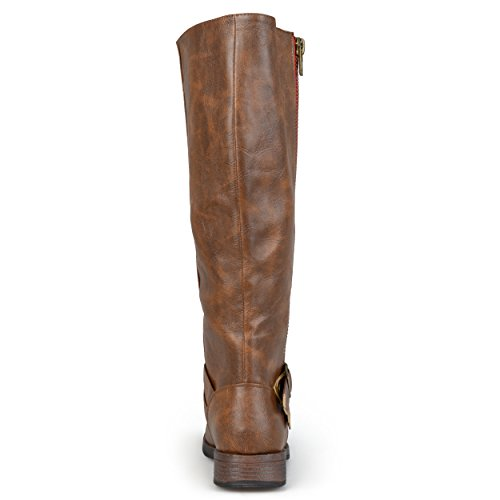 Brinley Co Womens Fulton Riding Boot Regular & Wide Calf Brown Wide ZRV0Apv