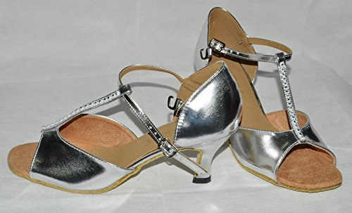 t ladies 8 size bar diana dance ballroom silver diamonte shoes ZA0Tq