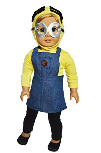 Brittany's My Minion Inspired Outfit Compatible with American Girl Dolls- 18 Inch Halloween Costume -