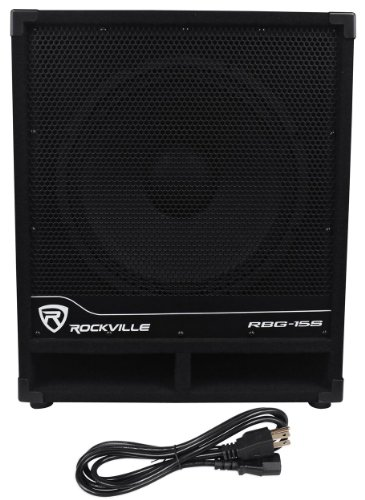 Rockville RBG15S 1600w Active Powered PA Subwoofer w/DSP + Limiter Pro/DJ, 15 inch (