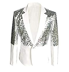 Men Slim Sequin Suit Jacket