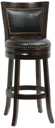 Steel Bed Pedestal (Boraam 42829 Bristol Bar Height Swivel Stool, 29-Inch, Cappuccino)