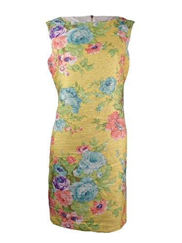 Jessica Howard Women's Petite Floral Jacquard Sheath Dress (8P, Multi)