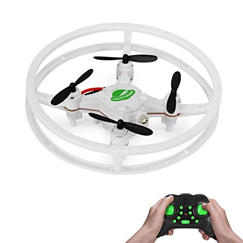 RC Nano Drone, MAKETHEONE Super-F Mini Racing Drone 4CH 2.4GHz 6-Axis Remote Control Quadcopter Helicopter RTF with Headless Mode Flash LED (UFO White) from M MAKETHEONE