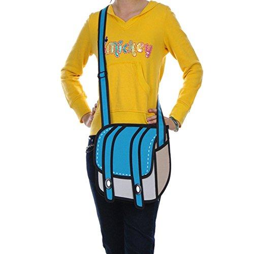 HAPPYLIYA-Jump-Style-3D2D-Messenger-Comic-Bag-Cartoon-Drawing-Paper-Bag-Blue