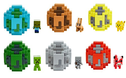 Minecraft Spawn Egg Mini Figures, Styles May Vary (Spawn Mini Figures)