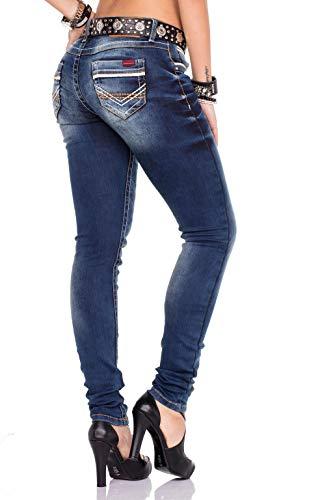 Schwarzem Mit Bleu Baxx Bundle Taille Jeans Cipo amp; Normale Gürtel Femme WYz4qHA8
