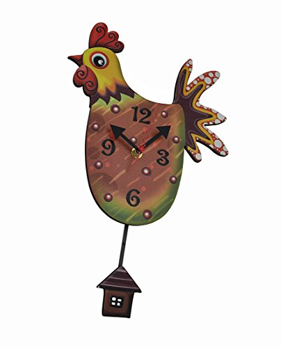 rustic chicken clock - 4