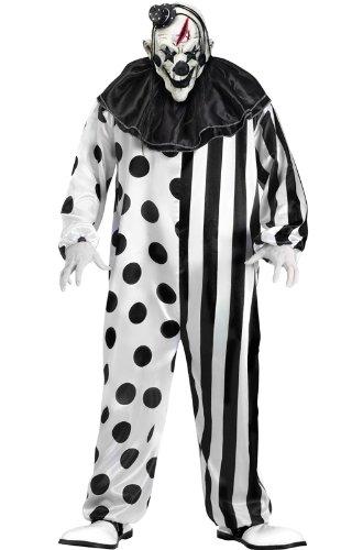 FunWorld Killer Clown Complete, Black/White, One Size