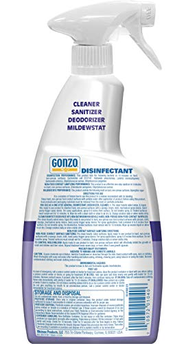 Gonzo Natural Magic Disinfectant Spray & Multipurpose Cleaner - Lavender Value Pack 24 oz. and 128 oz. Refill - Odor Eliminator, Disinfectant, Flood Fire Water Damage Restoration