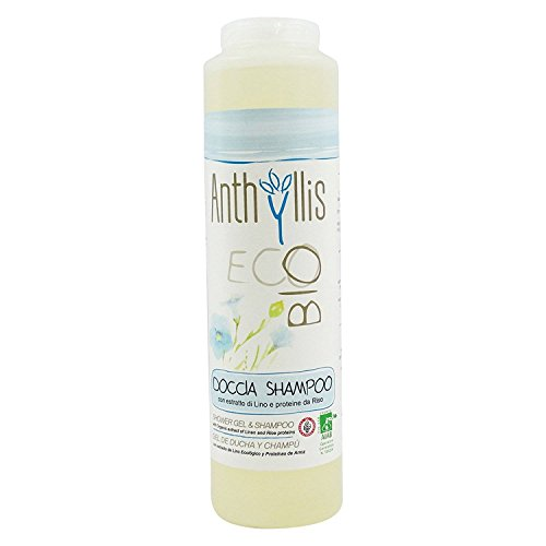 ANTHYLLIS - 2in1 Shampoo & Shower Gel - Natural Cleanser with Linseed Extract and Rice Protein - Soft & Soothing - Soothes & Nourishes - Restructures the Hair - 250 ()
