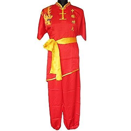 Artes marciales uniforme tradicional chino de Kung Fu rendimiento ropa mangas cortas ZooBoo