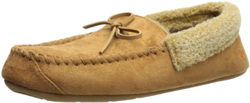 Dockers Ryan Aviator Moccasin with Warm Plush-Sherpa style collar, Tan, 8-9 M (House Sherpa)