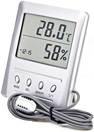 CHenXy デジタル温度計湿度計温湿度計ルーム湿度ゲージ計目覚まし時計デジタルで外部プローブ 湿度計温度計 (Color : A)