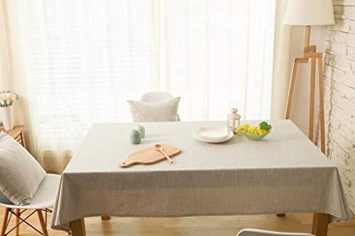 2 130x220cm ZXL Nappe de Style européen Simple Couleur Unie Coton Lin Home Home Rectangle de Style Simple (Couleur    2, Taille  130x220cm)