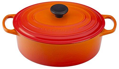 Le Creuset of America Enameled Cast Iron Signature Oval Dutch Oven, 8 quart, Flame ()