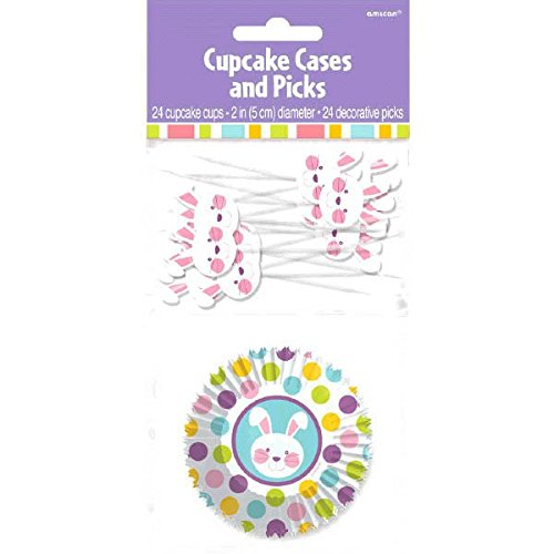 Amscan Egg-stra Special Easter Party Cupcake Liners & Picks Combo Kit Bakeware, Multicolor, 7.00 x (Halloween Special Cupcakes)