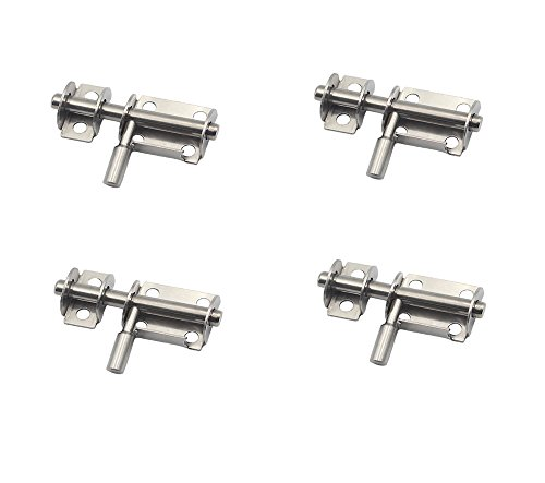 (NELXULAS Stainless Steel Slide Bolt Latch Set Multi - angle fixed bolt (2-3/5