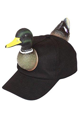 Mallard Hunting Baseball Cap - Black (Funny Caps)