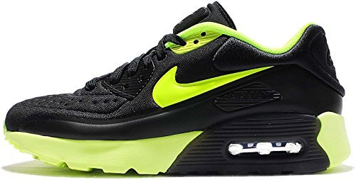 100% authentic b26e8 2ae93 Nike Kids Air Max 90 Ultra SE GS, Black/Volt-Dark Grey, Youth Size 6