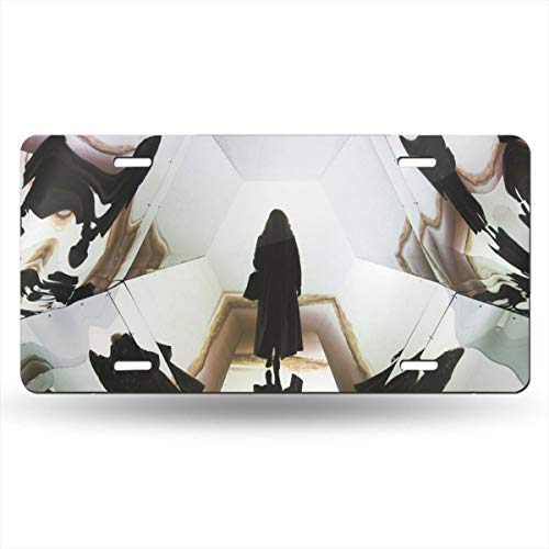 Poream Art Museum Gallery Architecture Exhibition Personalized Novelty Label Aluminum License Plate Cover Protector for All Standard Cars 6