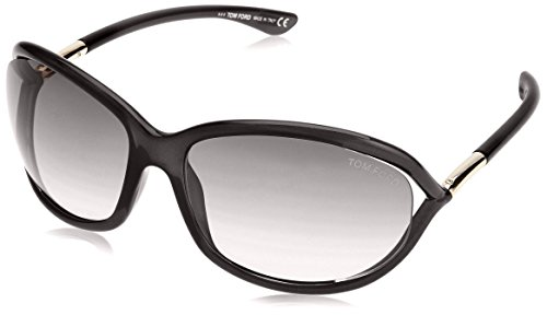 Tom Ford Jennifer FT0008 Sunglasses -01D Shiny Black (Smoke Polarized - Ford Tom Online