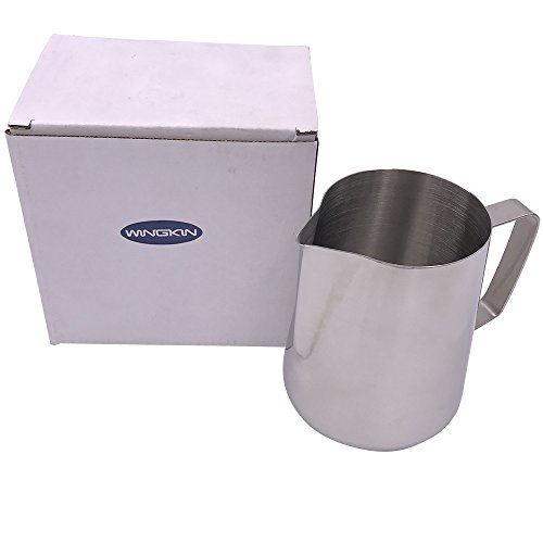 metal milk steaming pitcher - 6