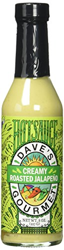 Dave's Gourmet Creamy Roasted Jalapeño Hot Sauce, one 8 oz bottle