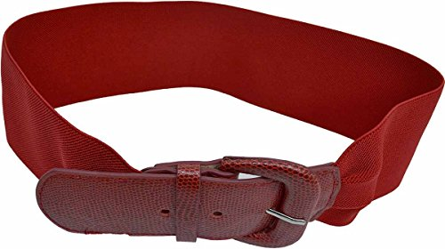 (Style Co women Braided Stretch Belt Red Small -Med)