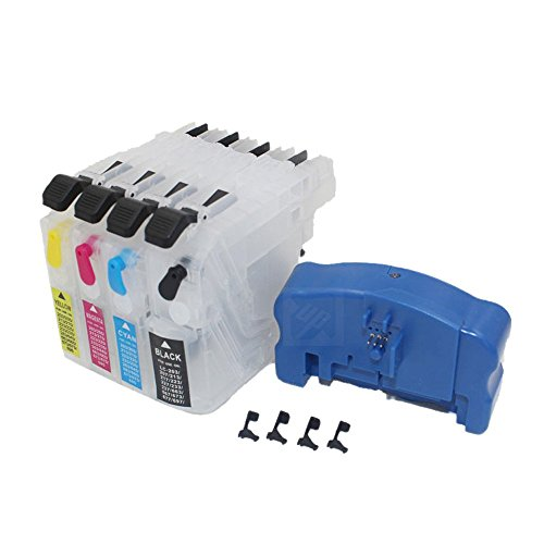 Ink Chip Resetter - UniPrint refillable ink cartridge + chip resetter for brother LC203 LC213 LC223 LC233 LC205 LC207 LC209 LC235 LC237 LC663 LC123 lc133 LC103 LC563