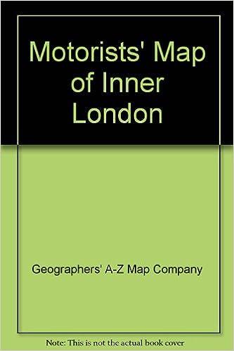 Map Inner London.Motorists Map Of Inner London Amazon Co Uk Geographers A Z Map
