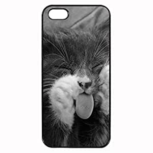 Meow Unipue Custom Image Case iphone 4 case , iphone 4S case, Diy Durable Hard Case Cover for iPhone 4 4S , High Quality Plastic Case By Argelis-sky, Black Case New