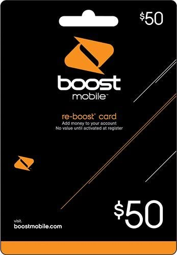 Mail Delivery Boost Mobile $50.00 Reboost Refill Card