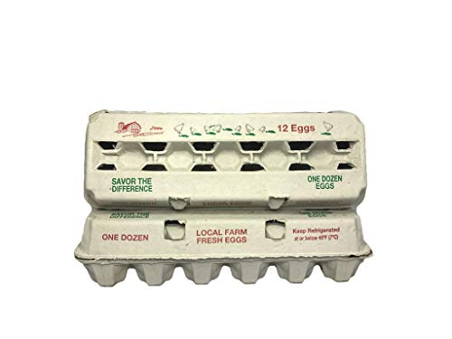 Zellwin Farms 12ct Red & Green Design Egg Cartons - 100pcs (Egg Cartons Wholesale)