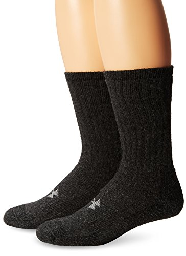 Under Armour UA 2-Pair Boot Crew, Black, Shoe Size: Mens 8-12, Womens -