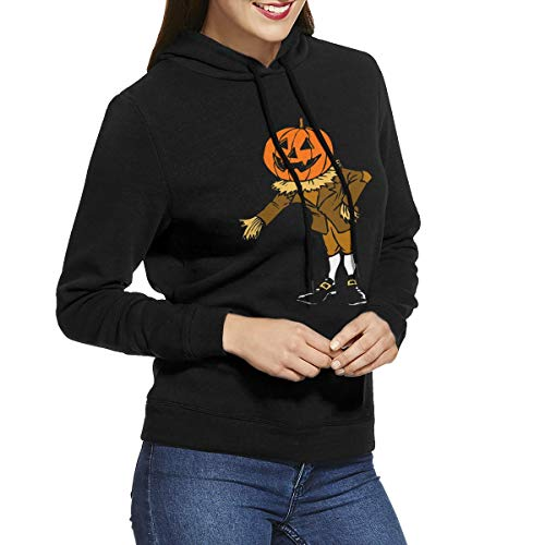 Womens Hoodies Halloween Pumpkin Scarecrow Inspiring Sweatshirt Hoodie Long Sleeve Shirt]()