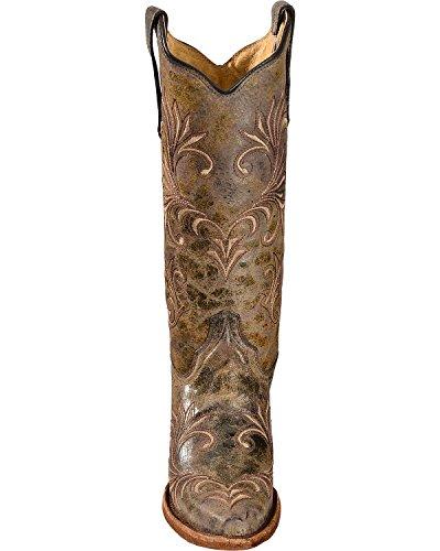 Cerchio G Donna Filigrana Cowgirl Stivaletto Snip Toe - L5133 Verde