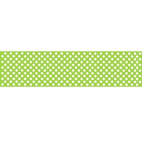 idealWigsNet Camino de Mesa de Papel de Lunares Verde Lima - 120 x ...