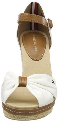 White Femme Iconic Elena Tommy 121 Espadrilles Sandal Hilfiger whisper Blanc FXPnRq8