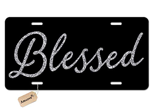 Amcove Blessed Car Tag
