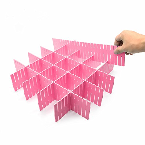8pcs DIY Plastic Grid Drawer Divider Household Storage ShineMeThickening Housing Spacer Sub-grid Finishing Shelves for Home Tidy Closet Stationary Makeup Socks Underwear Scarves Organizer (Plastic Draw Divider)
