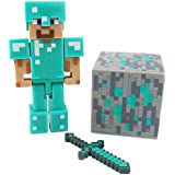 kid's toy games Minecraft steve Removable figure 3 inch toy