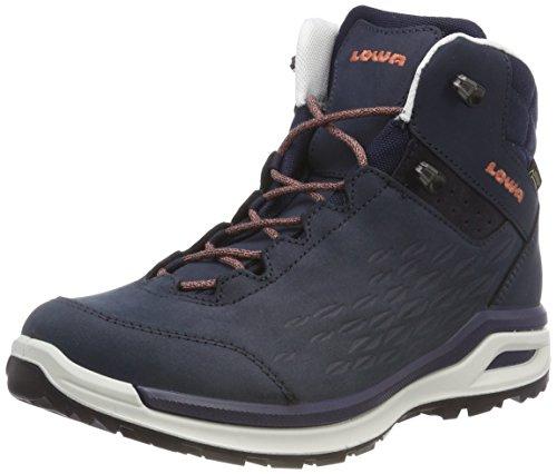 Femme Hautes GTX Chaussures Randonnée de Locarno Navy Qc Bleu Mandarine Lowa 6912 xnqaw0Zpn