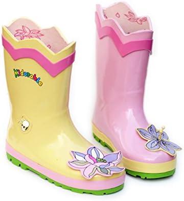 Kidorable Original Gebrandmarkt Gummistiefel, Regen Stiefel Lotus Für Jungen, Mädchen