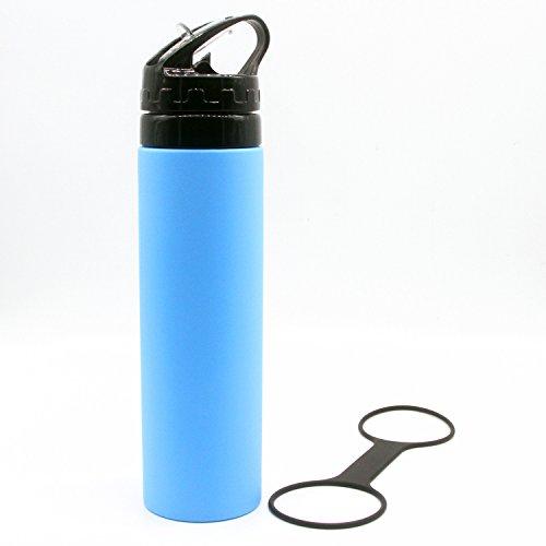 SOFIT Sport Botella de Agua Deportiva de Silicona 600ML Eco Friendly & Non BPA, Botellas Deportivas Portátil Ultra Ligero(168G) Silicone Botellas de Bebidas ...
