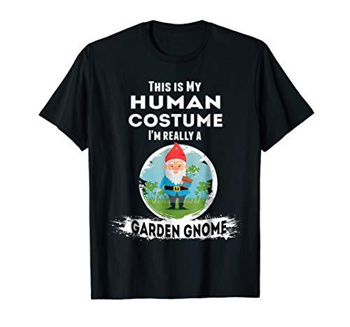 Garden Gnome Halloween Costume T-Shirt Human Costume ()